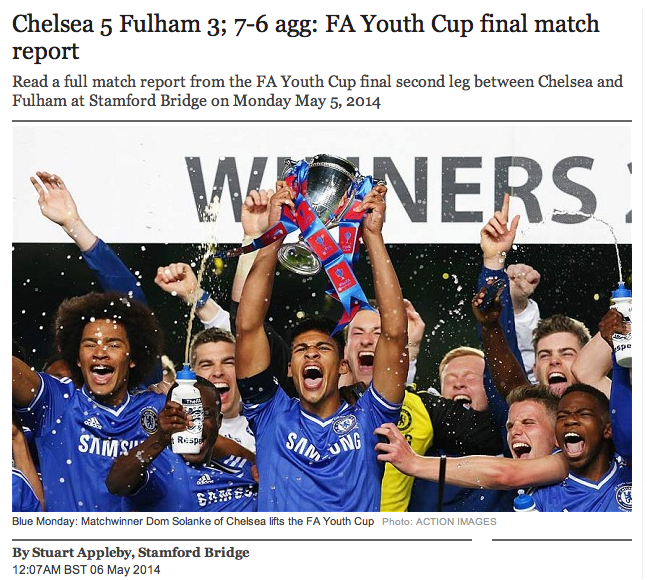 FA Youth Cup report as Chelsea beat Fulham