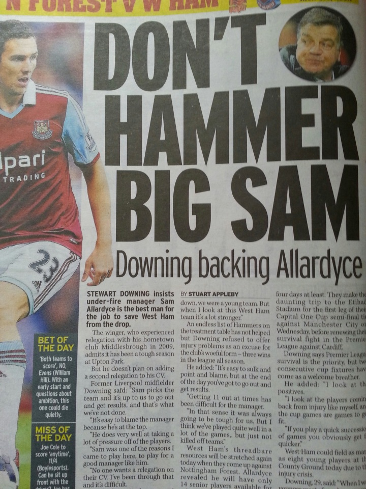 My interview with West Ham winger Stewart Downing