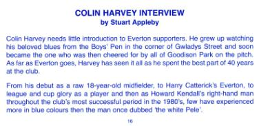Colin Harvey Interview