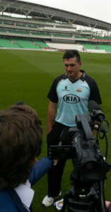 Interviewing South Africa cricket legend Graeme Smith at the Kia Oval