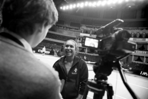 Interviewing British No.1 Heather Watson at the Royal Albert Hall