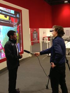 Interviewing middle distance running legend Haile Gebrselassie