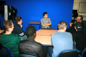 Talking to ambitious journalism students at my old College (Itchen College)