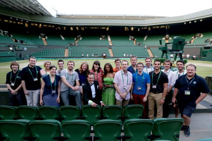 With my Wimbledon media team colleagues at the end of The 2013 Championships