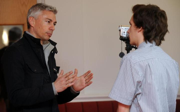 Stuart Appleby interviews former triple jumper and current world record holder Jonathan Edwards CBE (Image credit: Jonathan Edwards at the Staffordshire and Stoke-on-Trent 2012 Conference, March 13 2012)