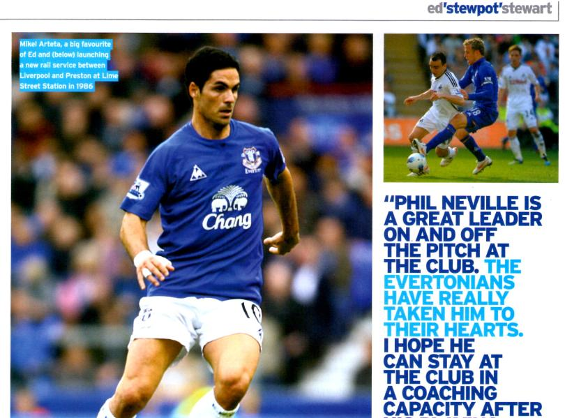 Spaniard Mikel Arteta is one of the best Everton players to have worn a blue shirt, according to Stewart