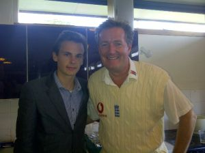 Journalist Stuart Appleby with Piers Morgan