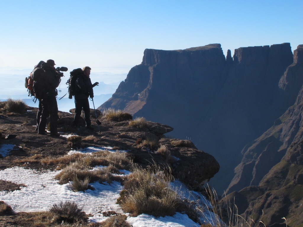 Charley and crew at the top of Tugela Falls