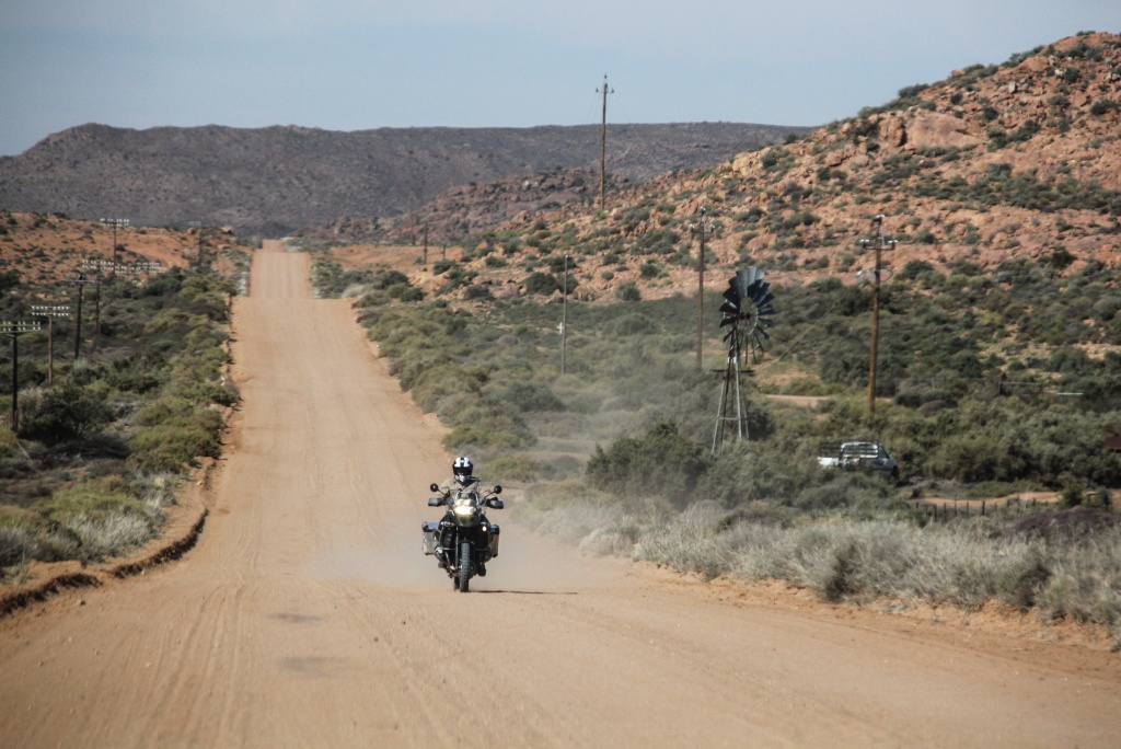 Charley on his trusty BMW GS Adventure motorcycle