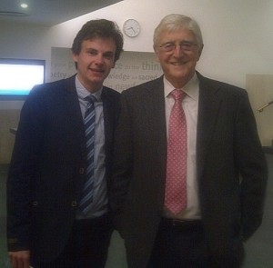 Journalist Stuart Appleby interviews Sir Michael Parkinson