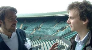 Stuart Appleby interviews chat show host Jonathan Ross