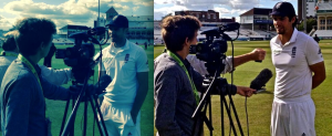 Interviewing England Cricket stars James Anderson and Alastair Cook