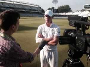 Interviewing England all-rounder Ben Stokes at Lord's