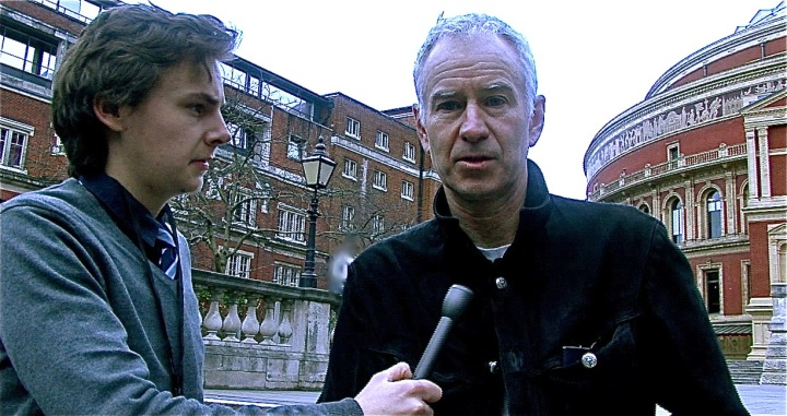 Interviewing three-time Wimbledon champion John McEnroe