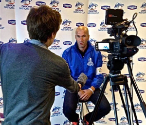 Interviewing Real Madrid legend Zinedine Zidane
