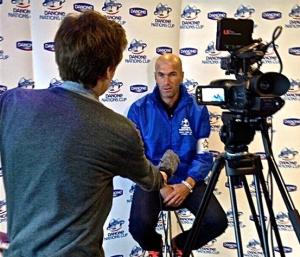 Interviewing Real Madrid legend Zinedine Zidane