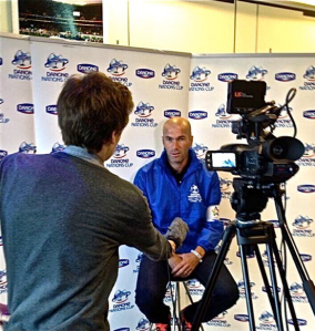 Interviewing French legend Zinedine Zidane