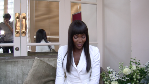 Shooting an interview with the world's most famous supermodel, Naomi Campbell