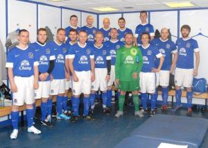 In the home dressing room at Goodison Park