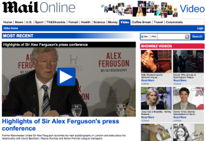 Sir Alex Ferguson's book launch in London