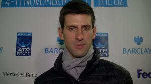 Interviewing Novak Djokovic at the 02