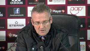 Stuart Appleby interviewing Aston Villa manager Paul Lambert