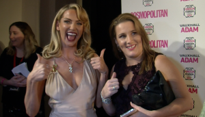Girls Aloud star Sarah Harding and X Factor's Sam Bailey at the awards bash