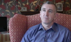 Interview shoot with former Arsenal defender Nigel Winterburn ahead of the FA Cup final
