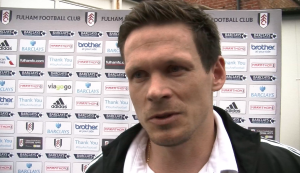 Fulham's Sascha Riether reacts to another difficult defeat