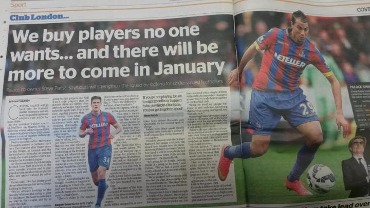 Exclusive interview with Crystal Palace co-chairman Steve Parish