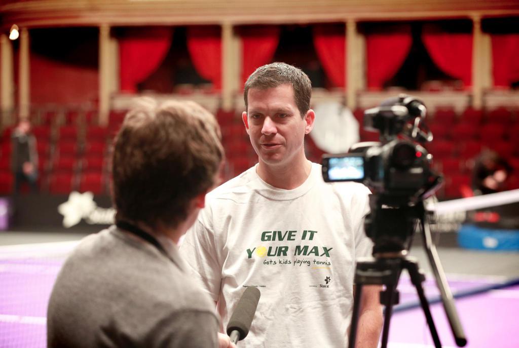 Interviewing former British No.1 Tim Henman