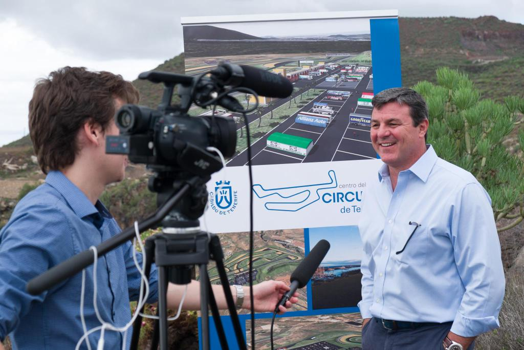 Interviewing former F1 driver and Le Mans winner Mark Blundell
