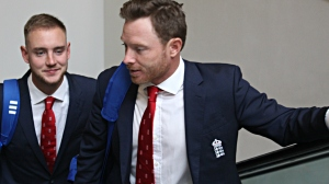 England cricketers Stuart Broad and Ian Bell
